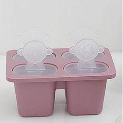 미니멀 실리콘 핑크 4구 아이스크림 몰드 1개