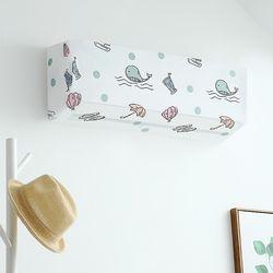 PEVA 벽걸이 에어컨커버 대형/정리함 방수 에어컨덮개