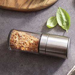 스텐 소금 그라인더 양념통 120ml 굵은 조미료 갈이
