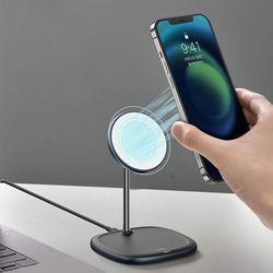아이폰12 전용 스완 맥세이프형 무선충전 거치대 무천충전기