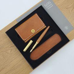 Gift Set - CW502S (카드지갑+만년필 FP-502+펜슬리브)