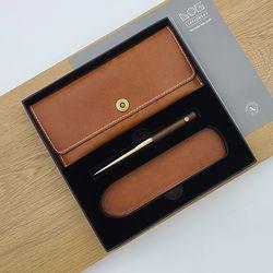 Gift Set - PC301S (가죽필통+볼펜 BP-301+펜슬리브)