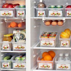 [무료배송] 냉장고 수납정리함 정리용기 하프수납트레이 4P 세트