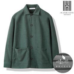 해리슨 주름지 오픈 카라 셔츠 ICK1012