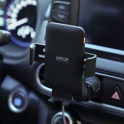 주파집 차량용 센서 무선 고속충전 핸드폰 거치대 QC-6bk
