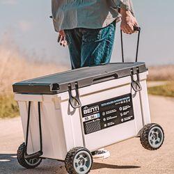레벤픽 아이스박스 58QT(55L) 감성캠핑 하드쿨러 바퀴