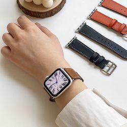 애플워치 싱글가죽 스트랩 5 4 3 2 SE세대 시계줄밴드