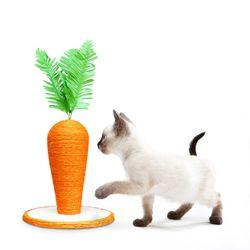 기둥형 당근 스크래쳐 고양이용품 소형 고양이 장난감
