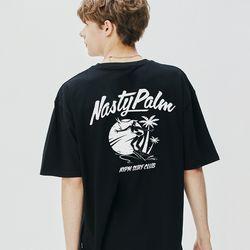 서핑 클럽 로고 반팔 블랙