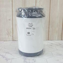 듀오 논슬립 캔휴지통 2L 소(색상랜덤)