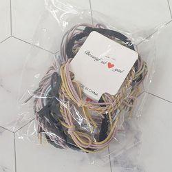 ABM 꽈배기 머리끈 20개입(색상랜덤)