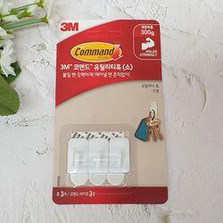 3M 코맨드 유틸리티 훅 소 3개입(제한하중 300g)