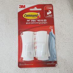 3M 코맨드 데코 훅 중 2개입(제한하중 1.3kg)