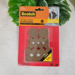 3M 스카치 층간소음 미끄럼방지 패드 밸류팩 원형(36입)