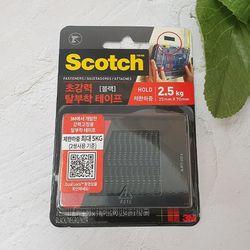 3M 스카치 초강력 탈부착 테이프 블랙 25x70mm