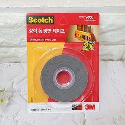3M 스카치 강력 폼 양면 테이프 12mmx4m