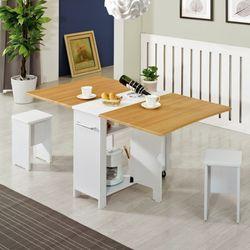 뉴라운딩 접이식테이블+의자3개 2-4인용 이동식식탁