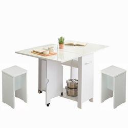 뉴800 하이그로시 접이식테이블+의자3개 2-4인용 식탁