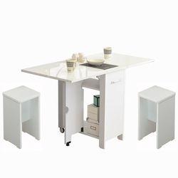 뉴600 하이그로시 접이식테이블+의자3개 2-4인용식탁