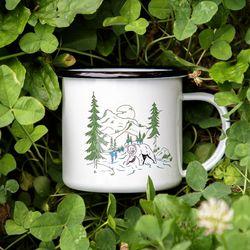 포레스트 법랑 컵