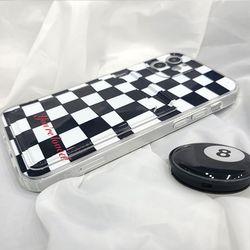 체커보드 카드 젤리 케이스 아이폰12 PRO 체스판 체크