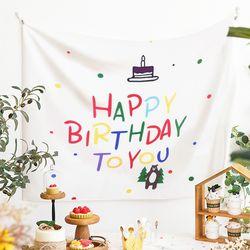 생일 가랜드 패브릭 포스터 현수막 (A타입)
