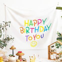 생일 가랜드 패브릭 포스터 현수막 (C타입)
