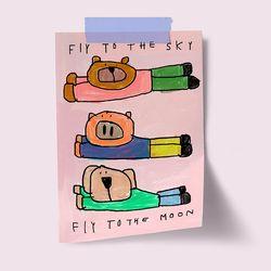 [drawingpaper] A3 포스터 - fly