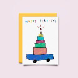 [drawingpaper] 생일카드 - 자동차케익