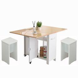 뉴800 하이그로시 접이식테이블+의자2개 2-4인용 식탁
