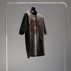 그린바나나 남자 긴팔 블랙 라운드 티셔츠 ink black
