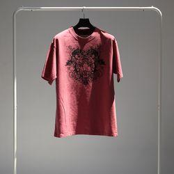 그린바나나 남자 긴팔 블랙 라운드 티셔츠 wine red