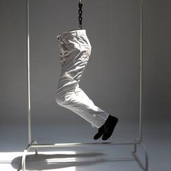 그린바나나 남자 데님 진 청바지 화이트 flying white jeans