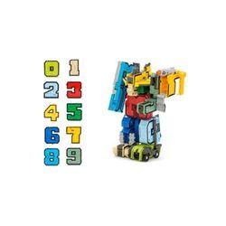 어린이 학습완구 숫자 놀이 공부 숫자변신 합체로봇