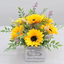 해바라기 화분-조화 꽃바구니 생일  개업 축하 인테리어장식