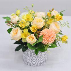 잉글리쉬로즈 화분-조화 꽃바구니 생일 개업 인테리어장식
