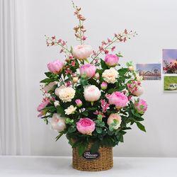 핑크작약 조화 꽃바구니 성전 교회 법당 절 꽃꽂이 센터피스