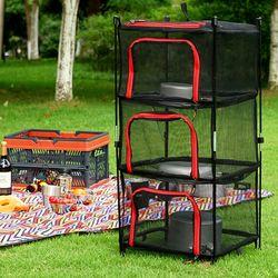 다용도 식기건조망 3단 자립형 걸이식 캠핑용품