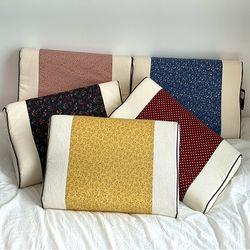 잠이 편한 꽃나염경추 메모리폼 푹신한 기능성 베개