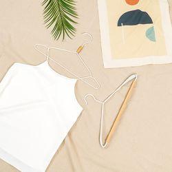 모노플랫 원목 포인트 셔츠 정장 옷걸이 2종 원목옷걸이