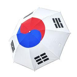 크로반 3단 UV 암막 우양산 KR15 태극기 우산