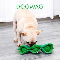 도그웨그 완두콩 노즈워크 강아지 간식 장난감 삑삑이 터그놀이