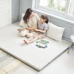 엄마토퍼 메모리폼 매트리스 침대 바닥이불 접이식 라지킹