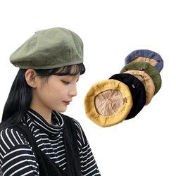 데일리 라인 코튼 베레모 남녀공용 모자