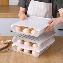 자동 계란 트레이 보관용기 달걀 보관함 에그 케이스