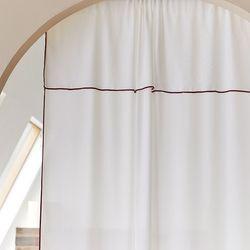해리스 밀크라인 쉬폰 한폭커튼 창문용 130x160
