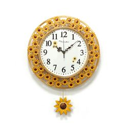 (kpl068)저소음 네이처 해바라기 시계 (옐로우)