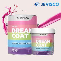 친환경 무독성 드림코트 페인트 0.5L 방문 셀프 벽지위에 도장