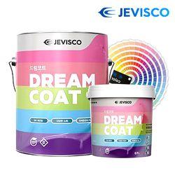 친환경 무독성 드림코트 페인트 1.0L 방문 셀프 벽지위에 도장
