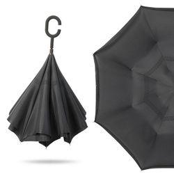 한개+한개 거꾸로접히는우산 C형손잡이 반전우산